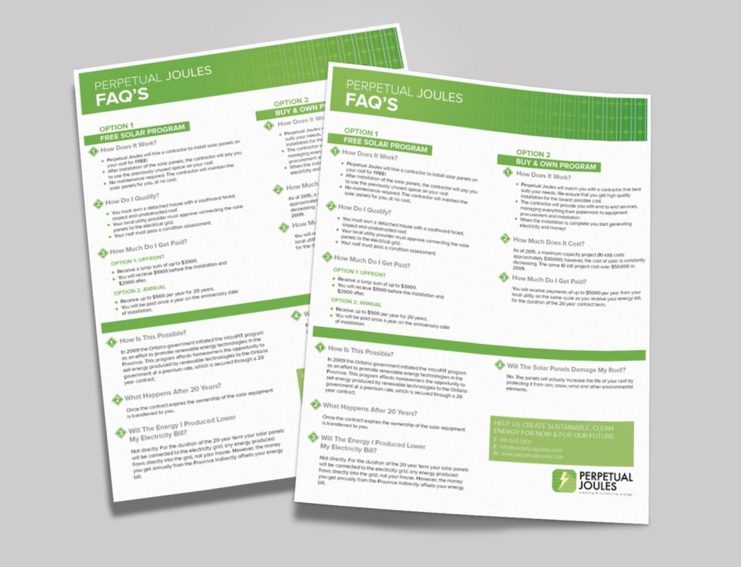Perpetual Joules FAQ Sheet